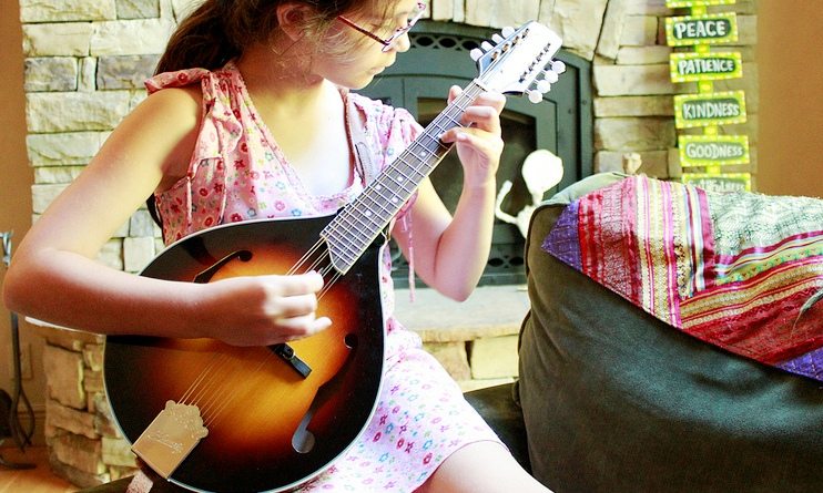 Girl Playing the Mandolin - Music Makers Calgary