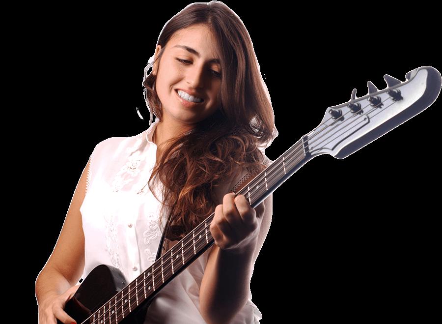 Girl playing the Bass - Music Makers Calgary